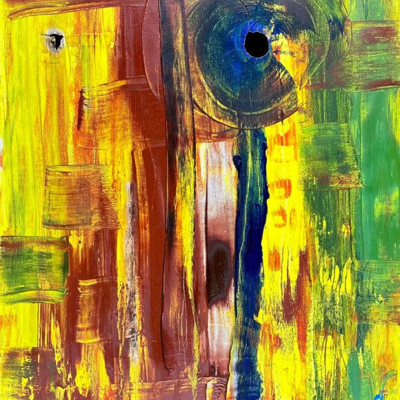 Astratto - 45x 35 cm - olio su legno