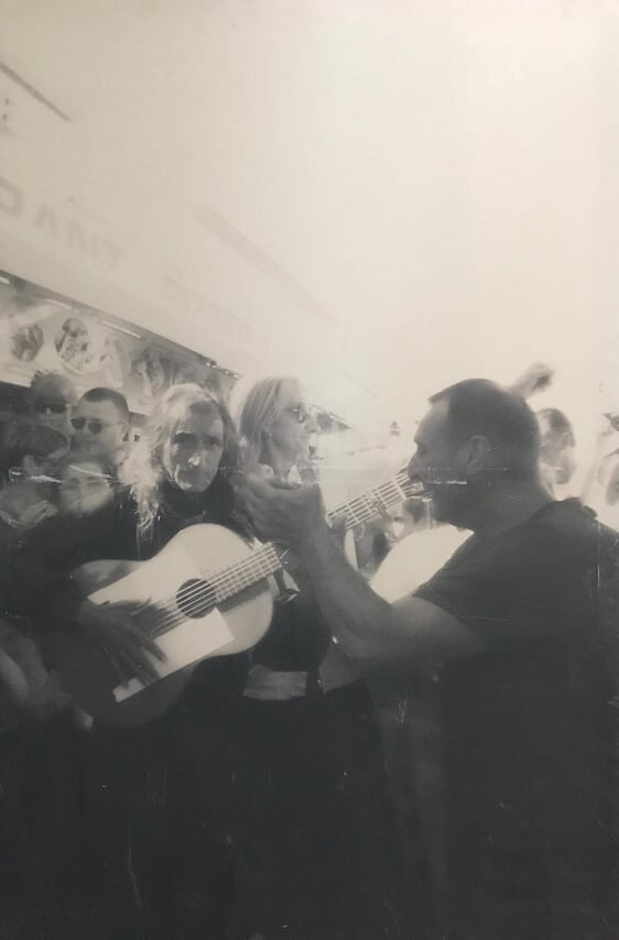 Gitani a Saintes Maries de la mer - 148x100 cm - stampa su tela