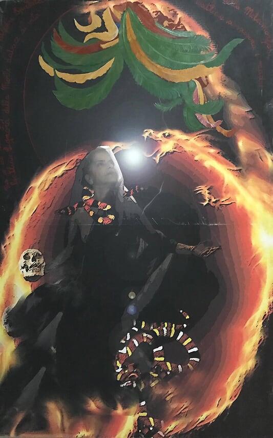 La dea Coatlicue - 156x100cm - fotoshop e ritocco smalti
