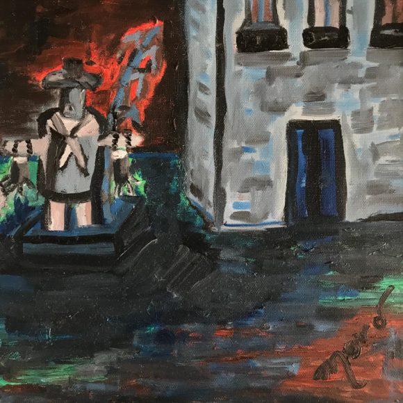 Mané Gaiola - 30x30 cm - olio su tela