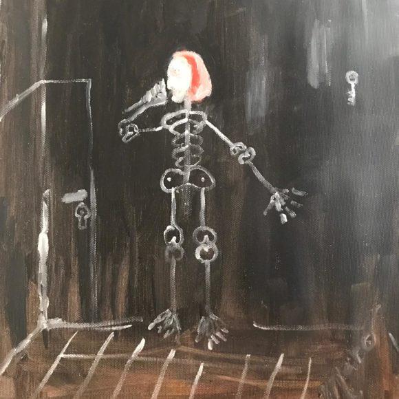 Noite dos poetas - 40x30 cm - olio su tela