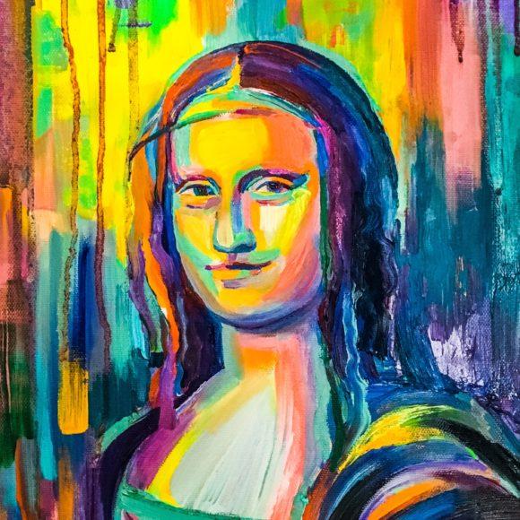 Ritratto di nobile donna - 30x20 - olio e acrilico su tela