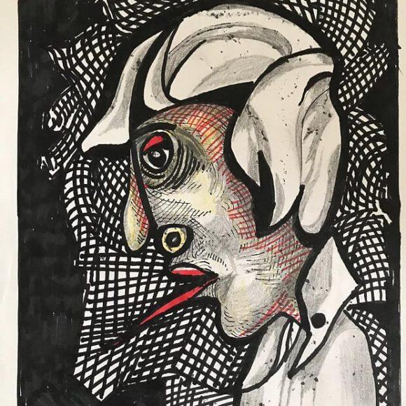 AL05 - 1988 - 30x21 cm - pennarello su carta