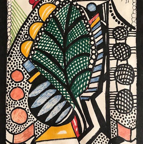 AL11 - 21x15 cm - pennarello su carta -1988
