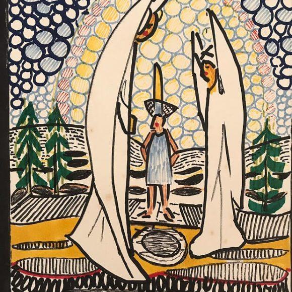 AL12 - 21x15 cm pennarello su carta-1988