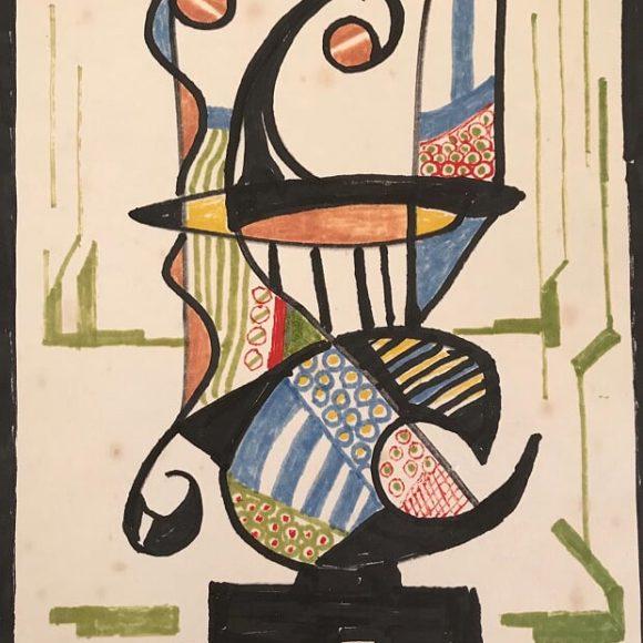 AL13 - 21x15 cm - pennarello su carta-1988