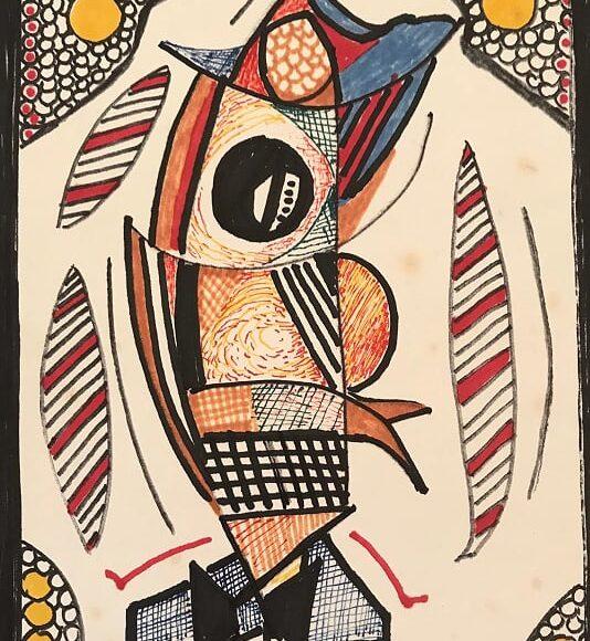 AL14 - 21x15 cm - pennarello su carta-1988