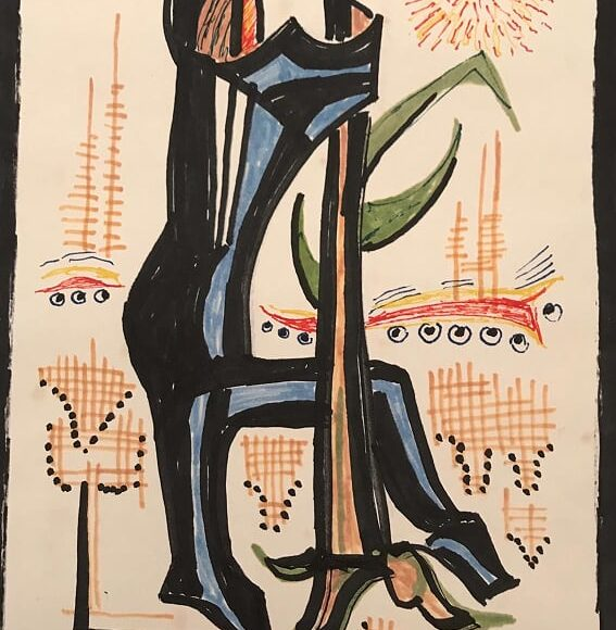 AL15 - 21x15 cm - pennarello su carta-1988