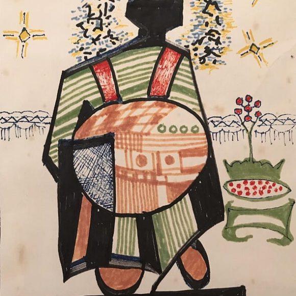 AL16 - 21x15 cm - pennarello su carta-1988