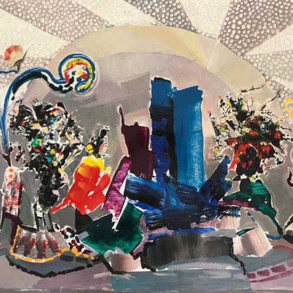 Abstrakt -1983 - 70x 90 cm - olio su legno