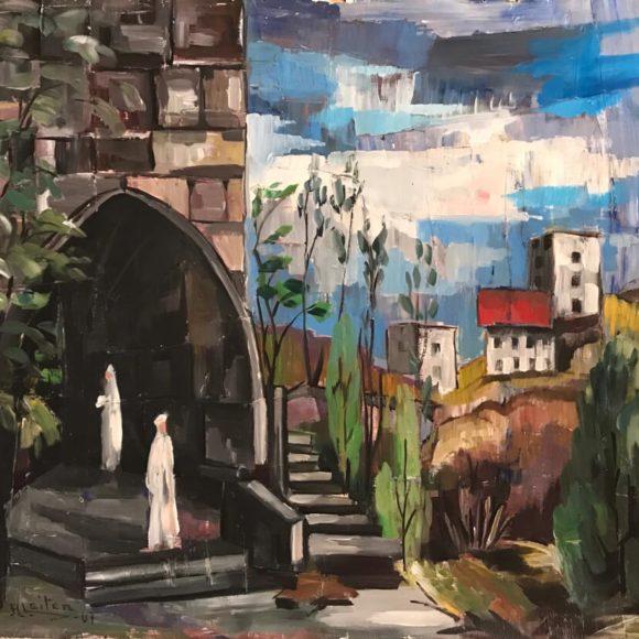 Bryllup -1947 - 61x70 cm olio su legno