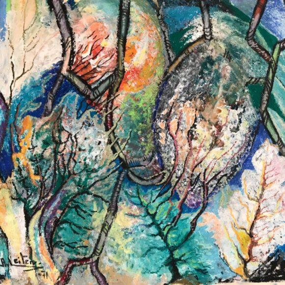 Skog - 1971 - 30x41 cm - pastello su carta