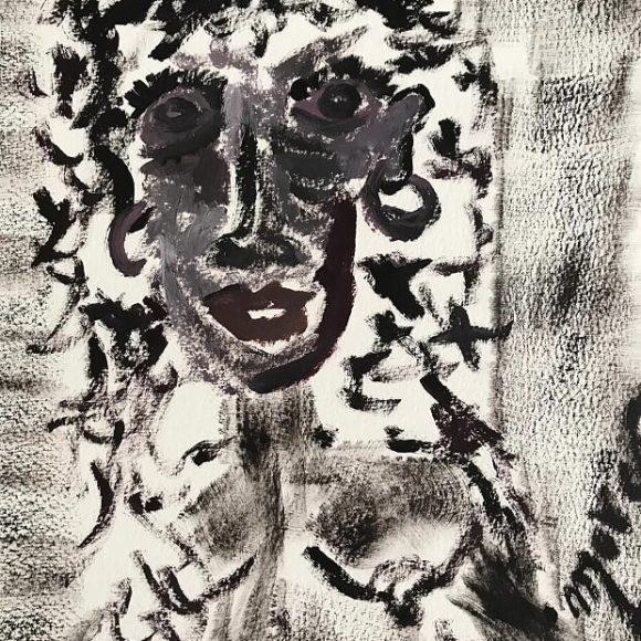 Studio 5 - 24x32 cm - olio su carta