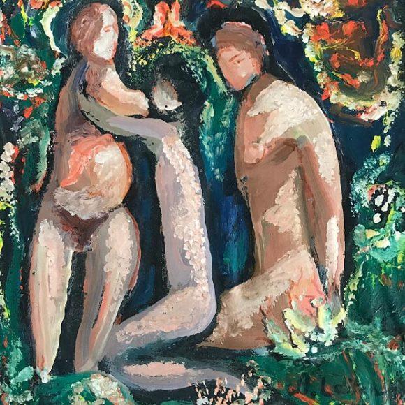 Union - 1969 - 28x22 cm - olio su legno
