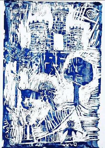 Asunzion - 70x50cm - xilografia