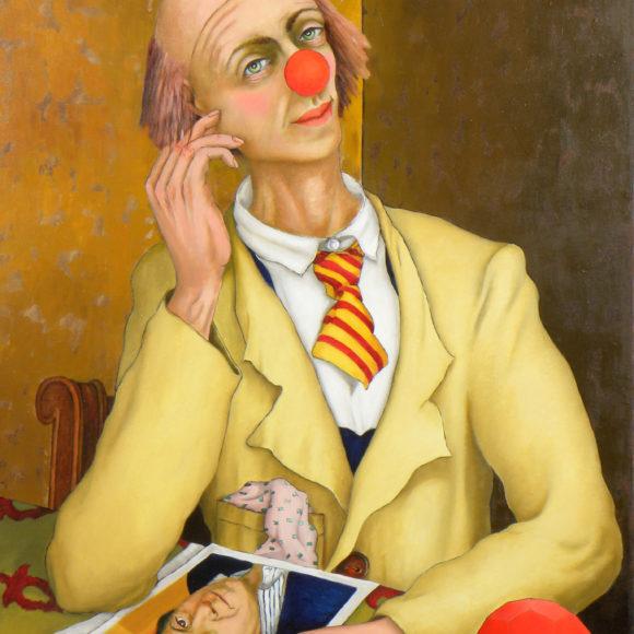 Clown in giallo - 80x60 - olio su tela