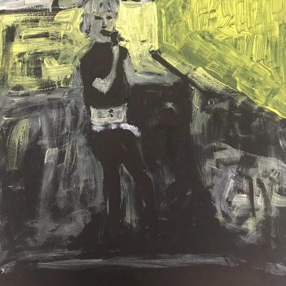 Penelope - 70x50cm - olio su carta
